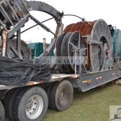 "Used Stewart Stevenson Coiled tubing trailer Unit With 2"" tubing and 100k Injector head"