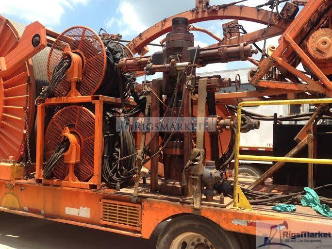 S & S Coiled Tubing Unit with Hydra rig Injector