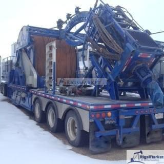 """for sale is a Trailer unit with HR680K Injector configured for 1 3/4"""" tubing with 5600m tubing mounted . Complete Rig ready for field work."""