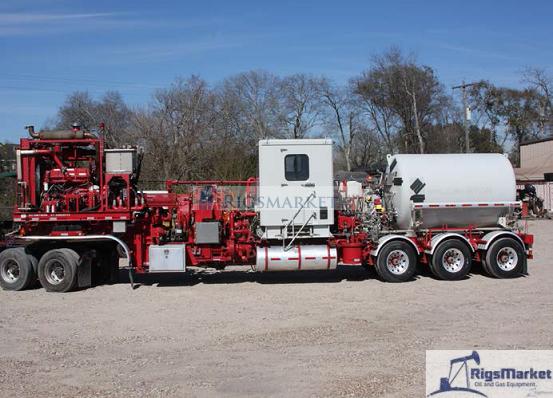 Halliburton Tpu 400fh Trailer Combo Pumping Unit on Cement Pump Truck