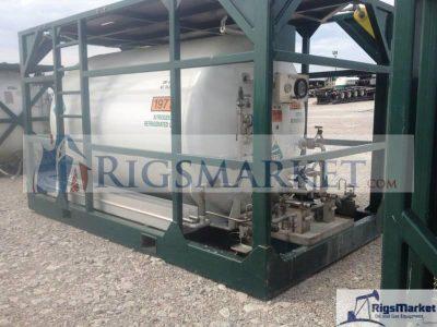 Skid mounted high pressure nitrogen pumper made by hydra rig