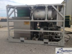Skid mounted high pressure nitrogen pumper made by hydra rig