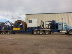 For sale is a 2006 Coiled tubing trailer, fully loaded. trailer with tractor, tubing and injector.