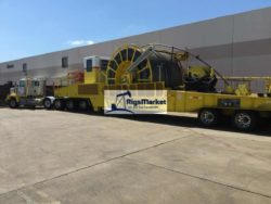 2-3/8 large pipe coiled tubing reel trailer