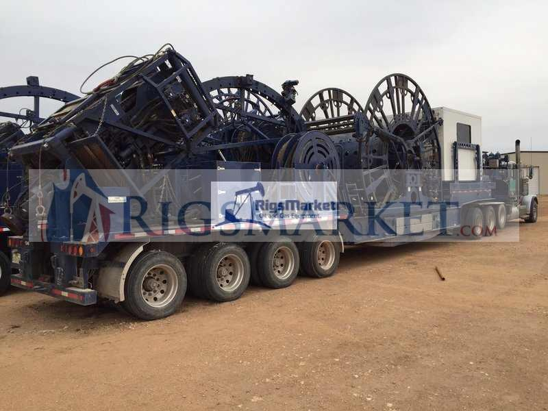 Coil Tubing Units Reel : Coiled tubing trailer unit rigs market