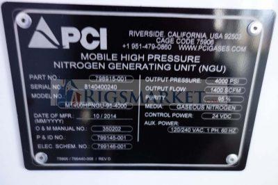 High Pressure Nitrogen Generating Unit