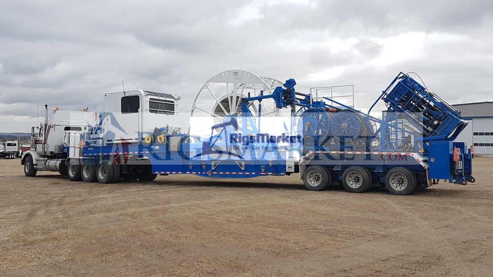 Large Pipe Coil Tubing Trailer - Rigs Market