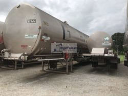for sale are 2x large nitrogen pumpers, 23,000 US GL Capacity. 1 is CVA MADE, 1 IS CSP MADE. Cryogenic Vessel Alternatives, Nitrogen Transport Vessel